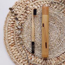 Bkind Biodegradable Bamboo Travel Case for Toothbrush | 628110689108