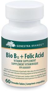 Genestra Bio B12 + Folic Acid 60 Tabs | 883196112418