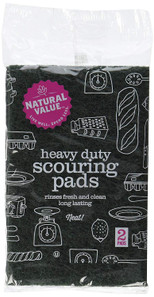 Natural Value Heavy Duty Scouring Pads 2 pk | 706173100089