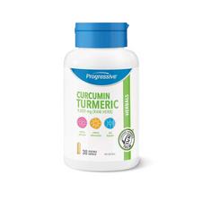 Progressive Curcumin Turmeric 30 Vegetable Capsules | 837229009190