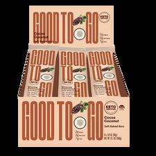 Good To Go Cocoa Coconut Keto Bars 9 x 40 g Box | 687456113197
