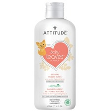 Attitude Baby Leaves Bubble Wash Pear Nectar 473 ml   626232183122
