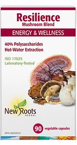 New Roots Herbal Resilience Mushroom Blend for Energy & Wellness 90 Veg Caps | 628747119337