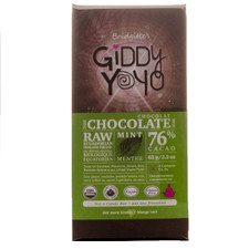 Giddy YoYo Mint 76% Certified Organic Dark Chocolate Bars 1 Bar | 838206000025