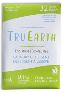 Tru Earth Eco-Strips Laundry Detergent Fragrance-Free 32 Loads | 899962000018