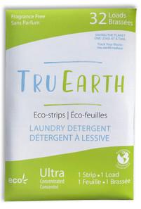 Tru Earth Eco-Strips Laundry Detergent Fragrance-Free 32 Loads | 899962000018