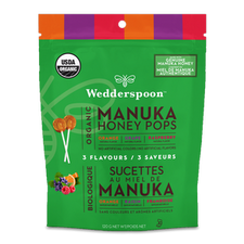 Wedderspoon Organic Manuka Honey Pops Variety Pack 120g | 814422022164
