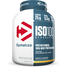 Expires November 2020 Dymatize Nutrition ISO 100 Hydrolyzed Whey Protein Isolate Smooth Banana 5 lbs