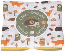 Now Designs Fall Friends Floursack Dishtowels Set of 3
