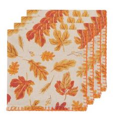 Now Designs Autumn Harvest Printed Napkins Set of 4