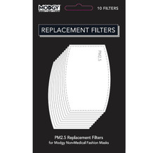 Modgy PM2.5 Replacement Filters for Fashion Mask - 10 Filters