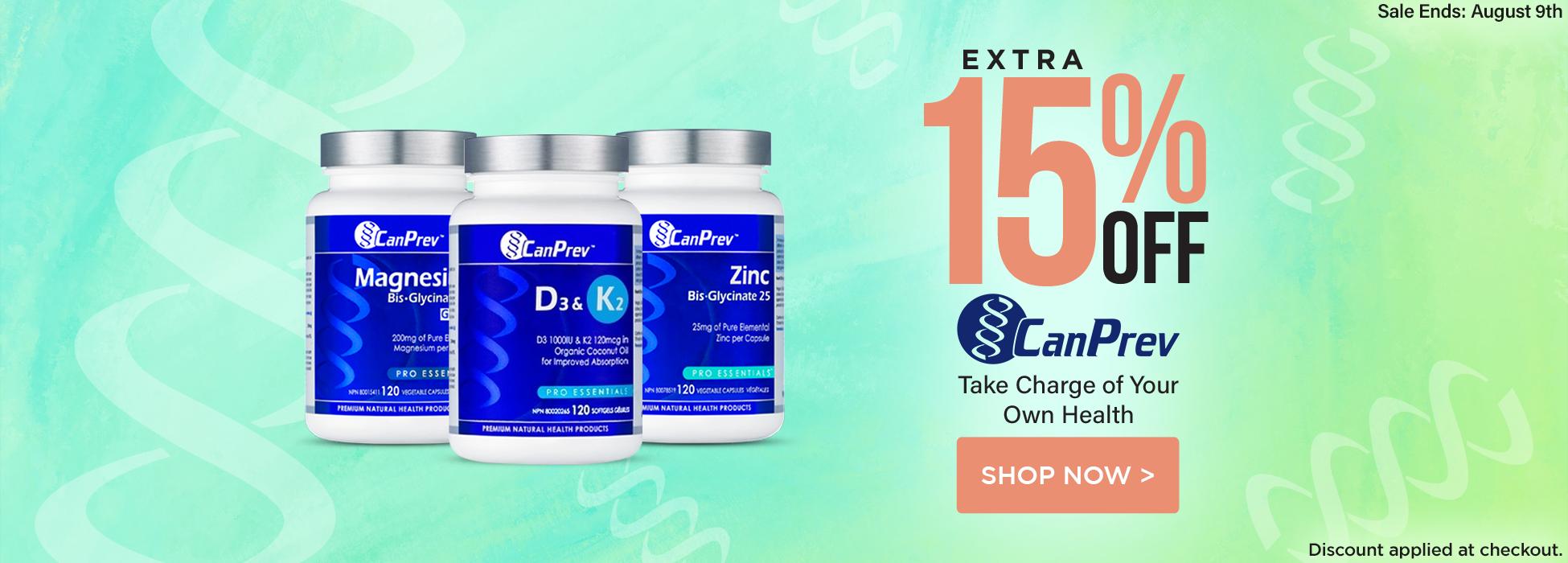 CanPrev sale magnesium vitamin d3 & K1 Zinc