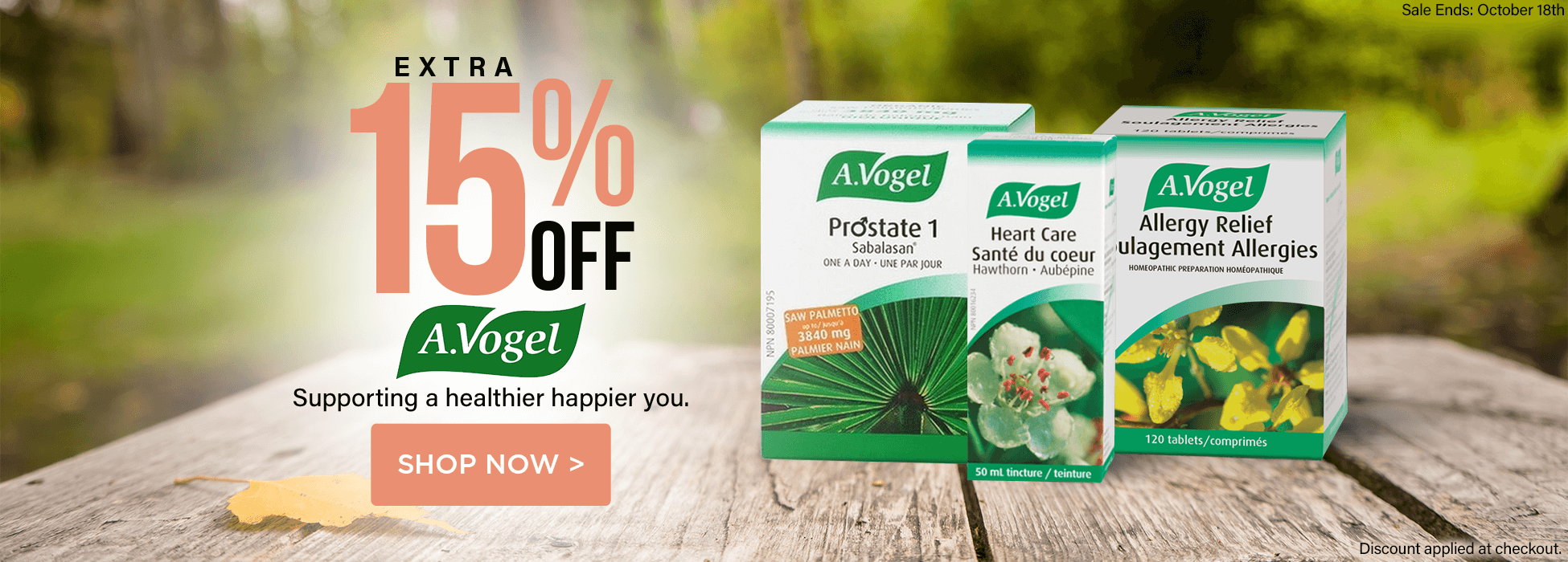 A. Vogel sale prostate supplement heart care, allergy relief
