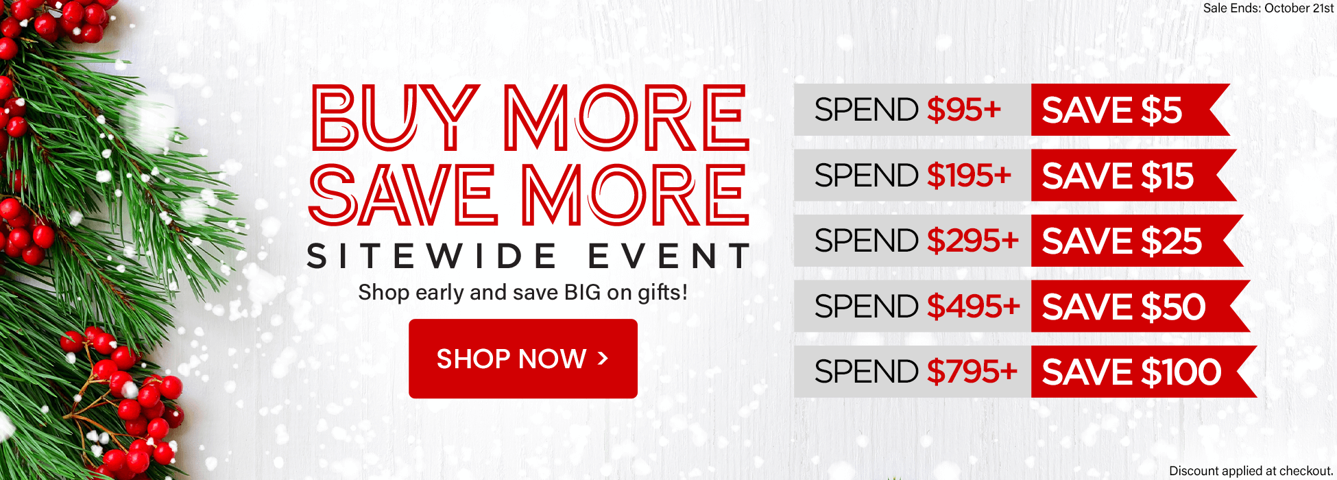 Holiday sale buy more save more