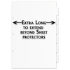 Single Set 17x11 6 Tabbed Dividers Extra Long with Holes (6 per Package)