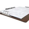 "Ruby Paulina 17x11 Hardboard Clipboard with 8"" Lever Operated Clip, & Two (2) 4"" Lever Operated Clips (680461)"