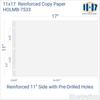 11x17 Reinforced Paper 500 sheet ream