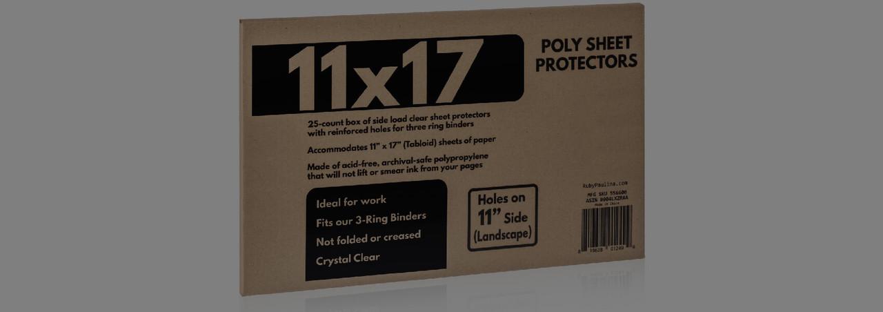 11x17 sheet protectors