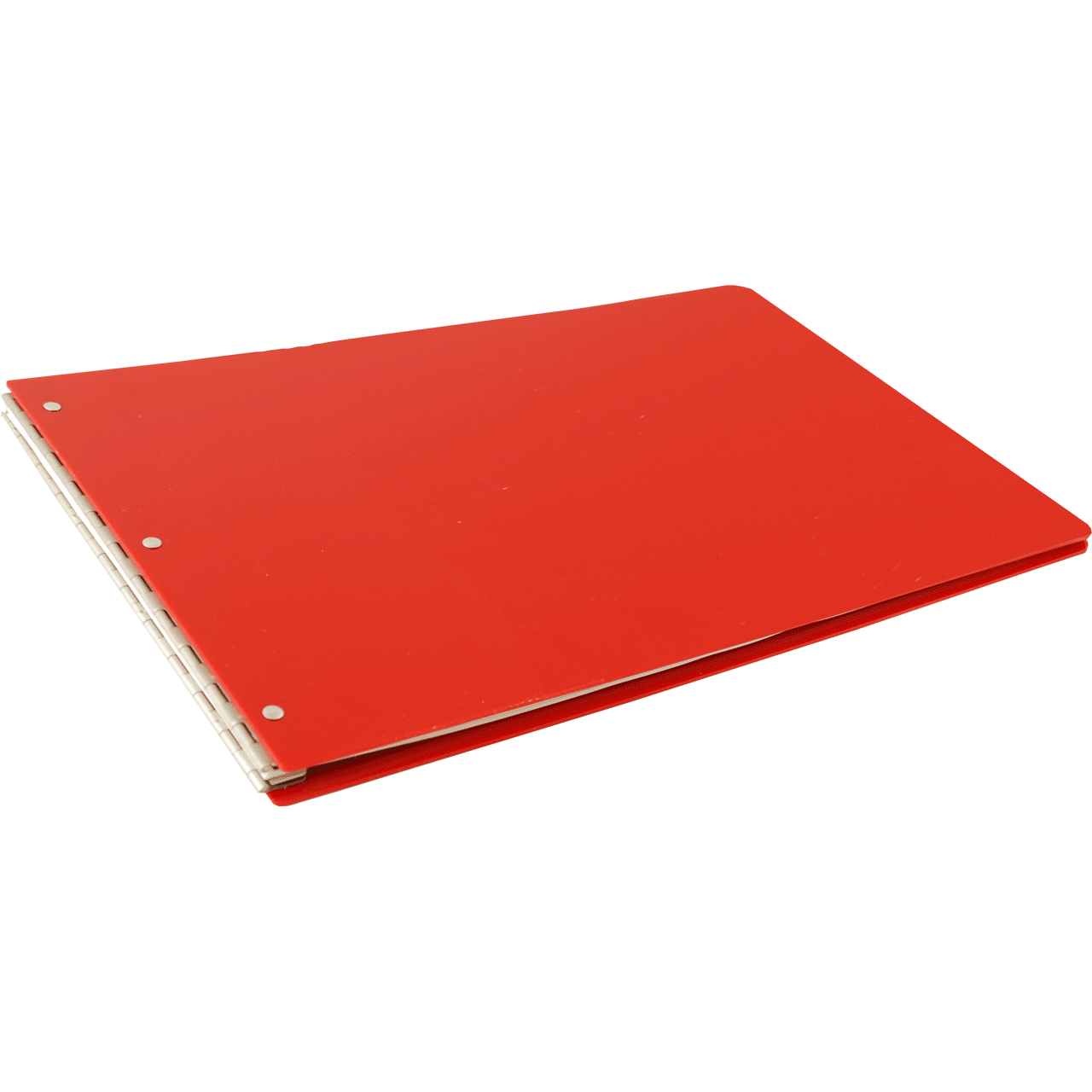 11x17 Screw Post Binder Acrylic Panel With Fixed Posts Red