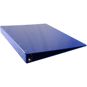 """24x18 Binder Acrylic Panel Featuring a 2"""" Angle-D Ring Blue"""