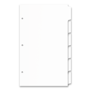 14x8.5 6 Tabbed White Dividers