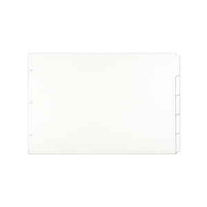 13x19 White 5 Tab Index Dividers (25 per Package)