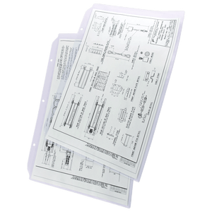 """11x17 Sheet Protector Poly with holes on 11"""" side 556600"""
