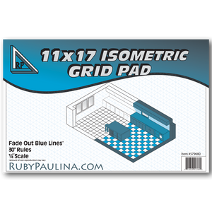11x17 Isometric Grid Pad (50 Pages per Tablet)