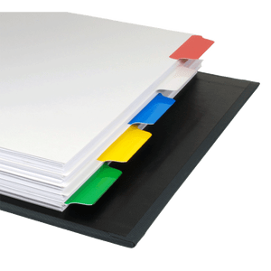11x17 Multi Colored 5 Tabbed Dividers (10 per Package) With Holes
