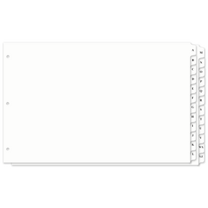 11x17 A-Z Tabbed Dividers With Holes