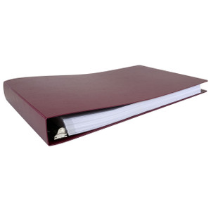 """11x17 Binder Poly Panel Featuring a 1.5"""" Angle-D Ring Maroon"""