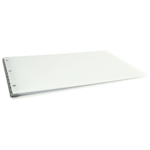 "Ruby Paulina 11x17 1"" Angle-D Ring, White Acrylic Binder (515180)"