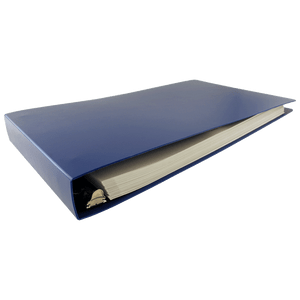 """11x17 Binder Poly Panel Featuring a 1.5"""" Angle-D Ring Blue"""