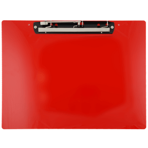 """19x13 Clipboard Acrylic Panel Featuring an 11"""" Hinge Clip Red"""