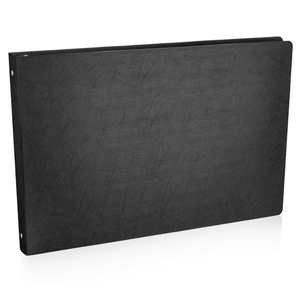 """11x17 Binder Poly Panel Featuring a 1"""" Round Ring Black"""