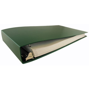 """11x17 Binder Poly Panel Featuring a 2"""" Angle-D Ring Green"""