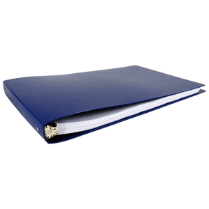 """11x17 Binder Poly Panel Featuring a 1"""" Round Ring Blue"""