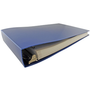 """11x17 Binder Poly Panel Featuring a 2"""" Angle-D Ring Blue"""