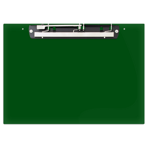 """19x13 Clipboard Acrylic Panel Featuring an 11"""" Hinge Clip Green"""