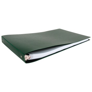 """11x17 Binder Poly Panel Featuring a 1"""" Round Ring Green"""