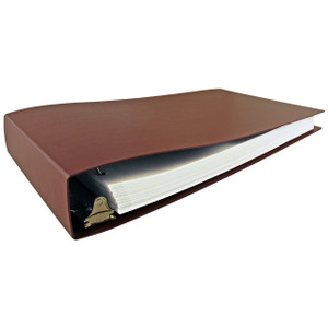 """11x17 Binder Poly Panel Featuring a 2"""" Angle-D Ring Maroon"""