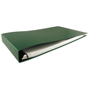 """11x17 Binder Poly Panel Featuring a 1.5"""" Angle-D Ring Green"""