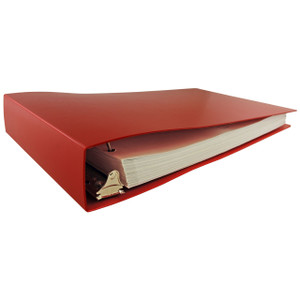 """11x17 Binder Poly Panel Featuring a 2"""" Angle-D Ring Red"""