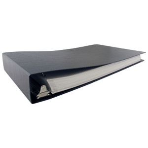 """11x17 Binder Poly Panel Featuring a 2"""" Angle-D Ring Black"""