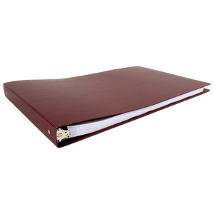 """11x17 Binder Poly Panel Featuring a 1"""" Round Ring Maroon"""