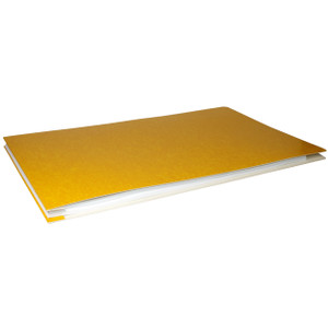 11x17 Report Cover Pressboard Binder PaperBoard Panels includes Fold-over Metal Fastener Apache Yellow Single unit