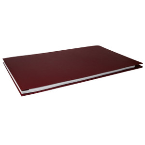 11x17 Report Cover Pressboard Binder Linen PaperBoard Panels includes Fold-over Metal Fastener Aggie Maroon Single unit