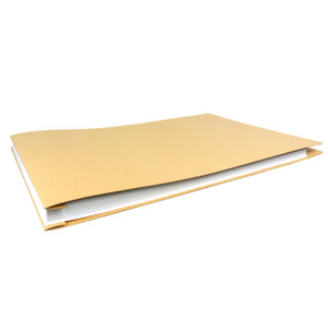 11x17 Report Cover Pressboard Binder  Paperboard Panels includes Fold-over Metal Fastener Wofford Khaki Single unit
