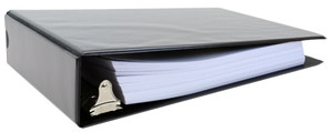 """8.5x11 Binder Vinyl Panel with pockets Featuring a 2"""" Angle-D Ring Black  Manufacturer Second"""