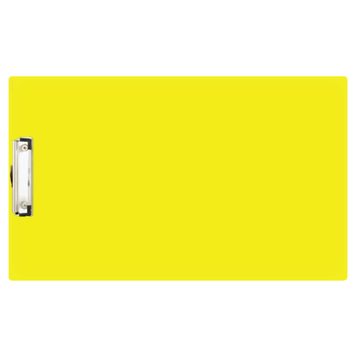 11x17 Yellow Acrylic Clipboard with 4'' Low Profile Clip (544140) (544140C)